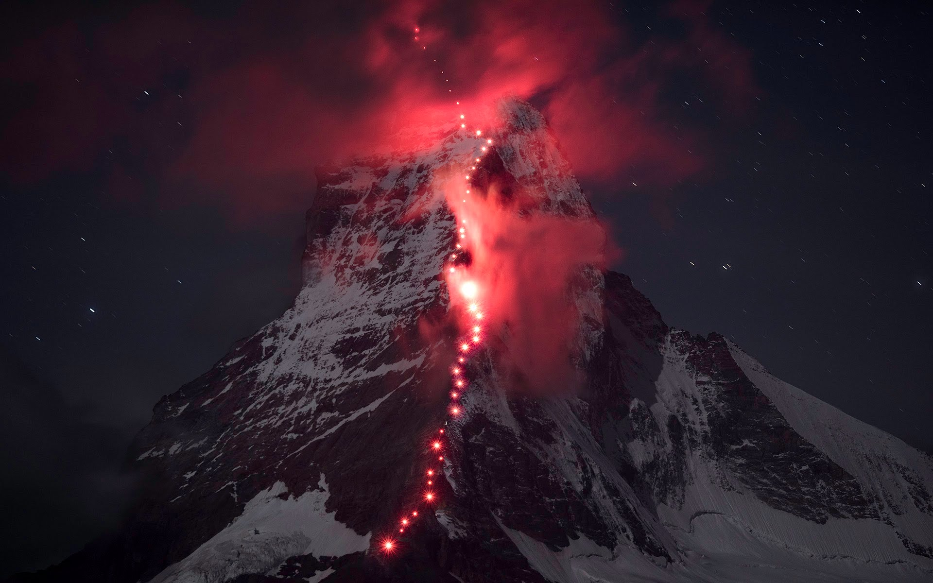 Making of del homenaje de Mammut al 150 aniversario de la primera ascensión al Matterhorn